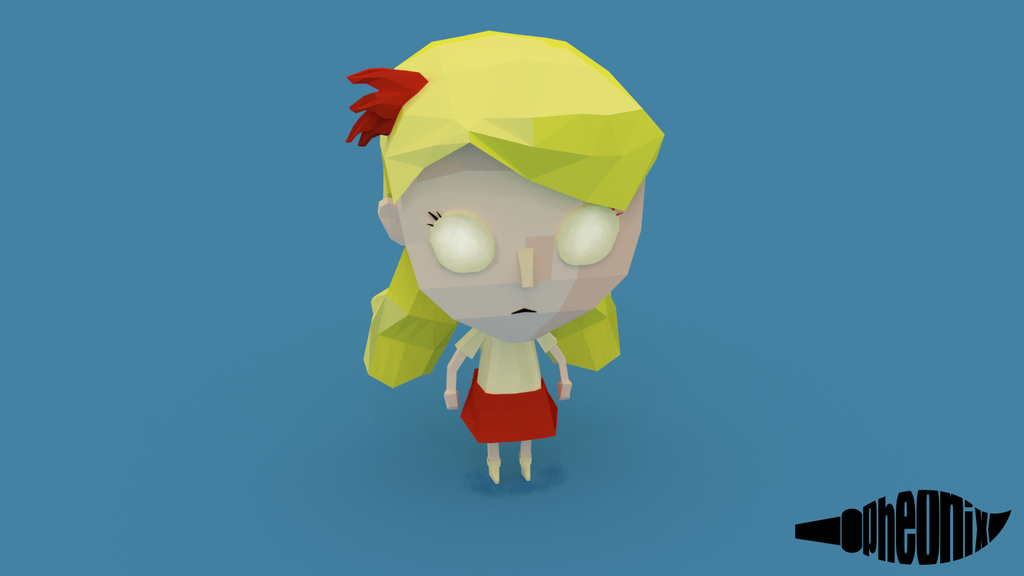 Wendy - Dont Starve [Low Poly] by WFpeonix