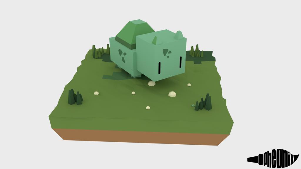 Cube Bulbasur by WFpeonix