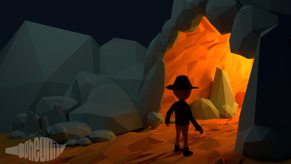 Mistery Cave - Low Poly by WFpeonix