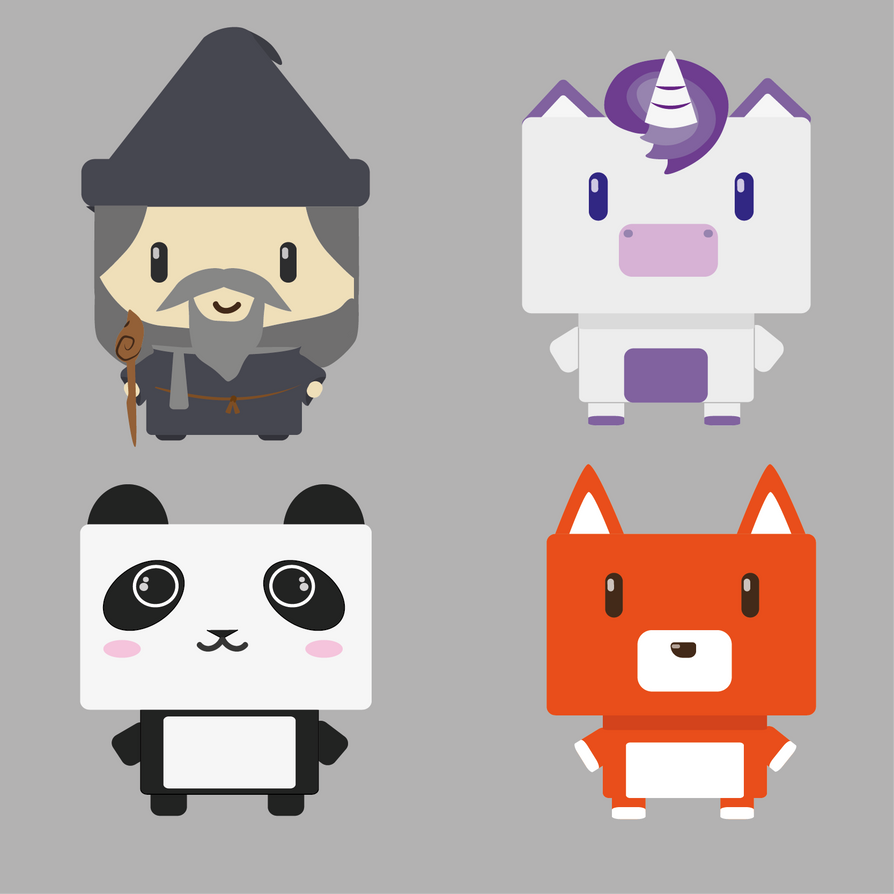 Cubic chibi characters by WFpeonix