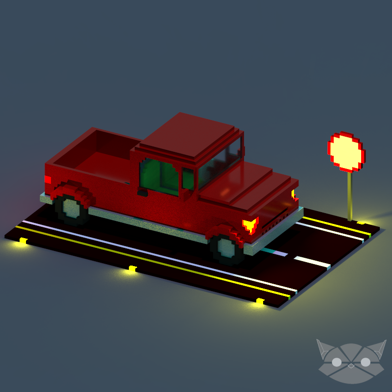 Old Truck in Voxel by WFpeonix