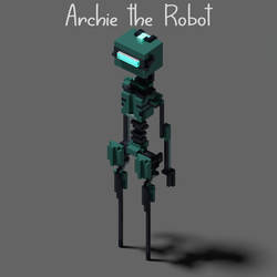 Richie the Robot is here - Sci Fi Voxel Character by WFpeonix