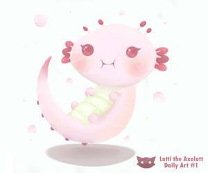 Lotti the Axolotl - Daily Art #1 by WFpeonix