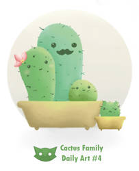 Cactu's Family - Daily art #4 by WFpeonix