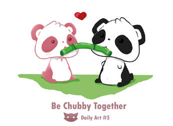 Panda Love Be like - Daily art #5 by WFpeonix