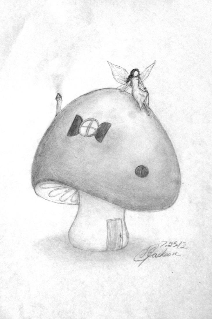Fairy sitting on a toadstool by unique firecracker 4 on for Unique sketches