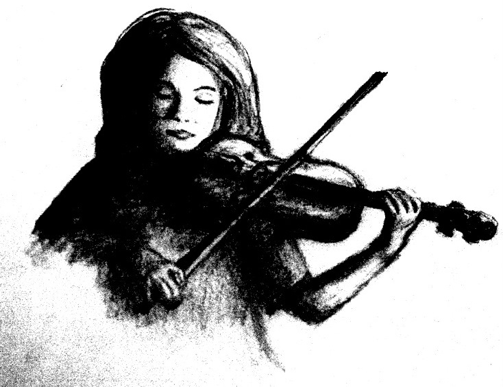 Violin pencil drawing by unique firecracker 4 on deviantart for Unique sketches