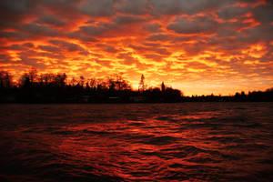 October Sunset by JulianCharbonneau
