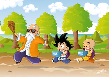 Roshi training by Witchking00