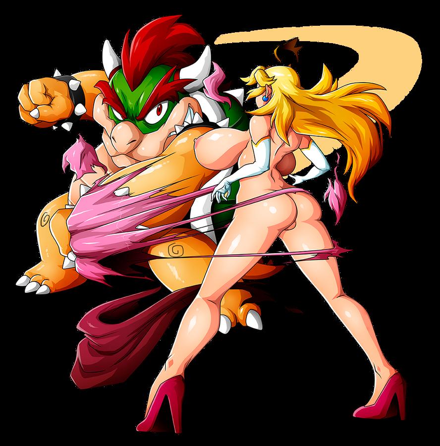 Princess peach bowser anal