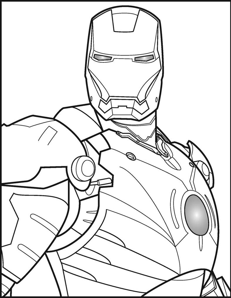 Line Art Man : Iron man by ares on deviantart