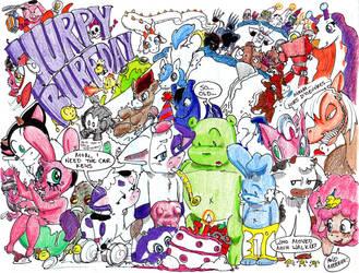 Hurpy Burfday by ChanterelleandMay