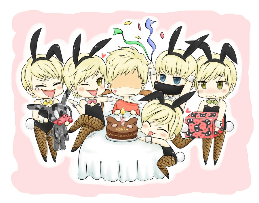 B A P 05 They wanna give BYG a  B.a.p Chibi