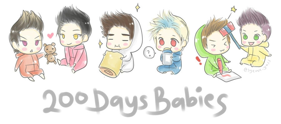 B A P 13 200 days debut by  B.a.p Chibi