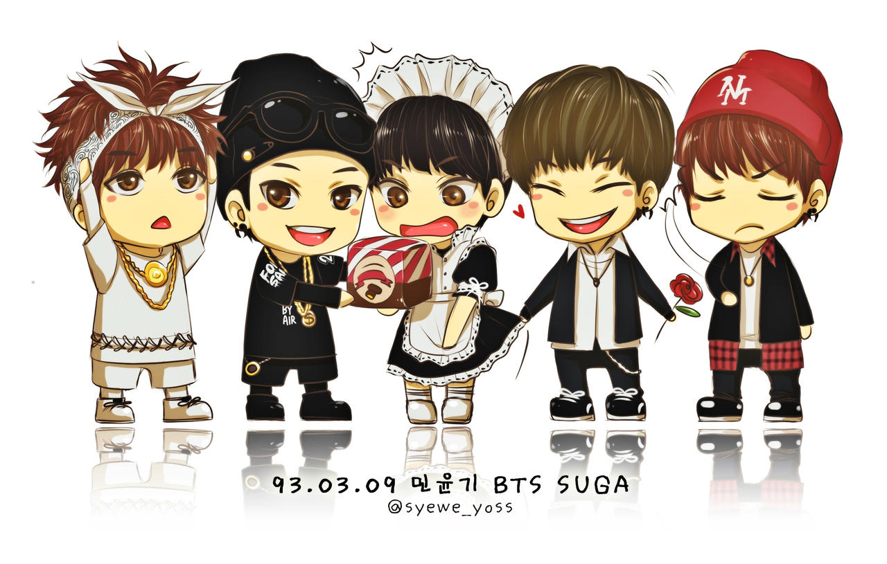 Bts 01 5 Versions Of Suga By Syewe Yoss On Deviantart