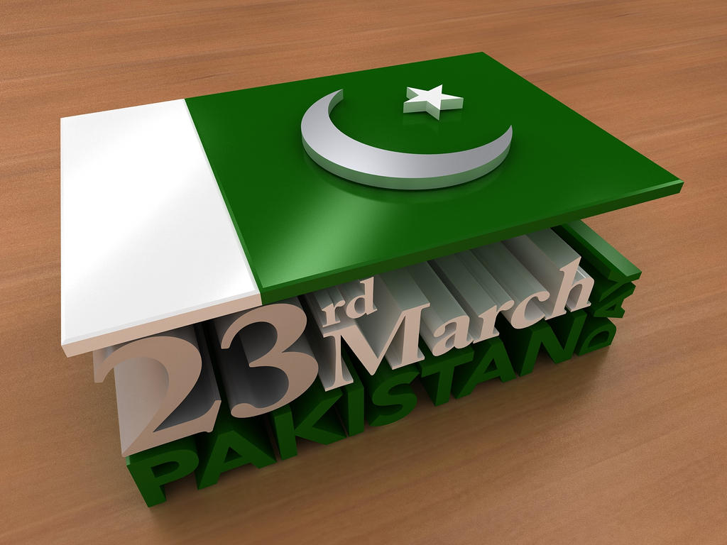 Pakistan Day   March 23rd by Digital-Saint