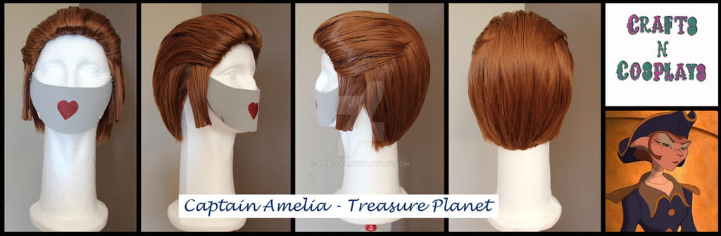 Captain Amelia wig commission by Robinaa