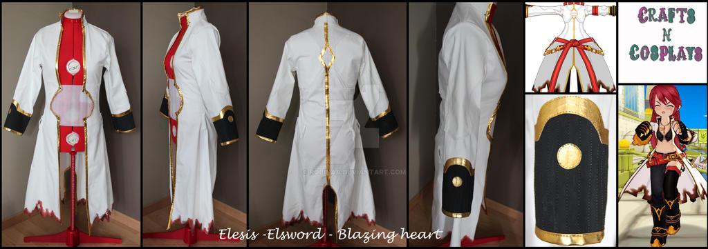 Elesis Elsword Blazing heart coat by Robinaa