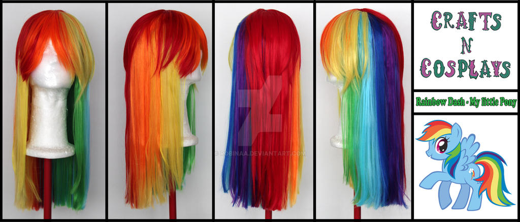 Rainbow Dash Wig by Robinaa