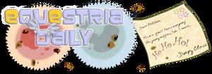 Equestria Daily Xmas Banner by stec-corduroyroad
