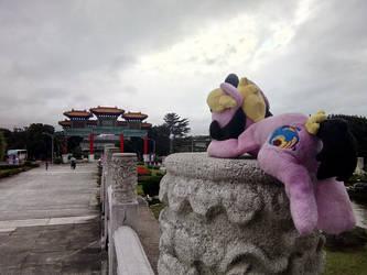 Cordy in Taiwan ~ Grand Hotel Entrance, Taipei