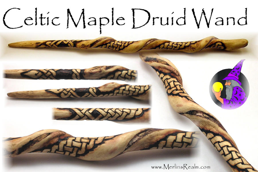 Celtic maple druid wand by merlinofmanitou on deviantart - Coole wanddesigns ...