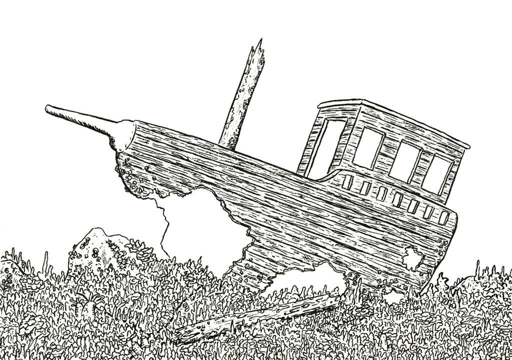 sunken ship by brandonolterman on deviantart