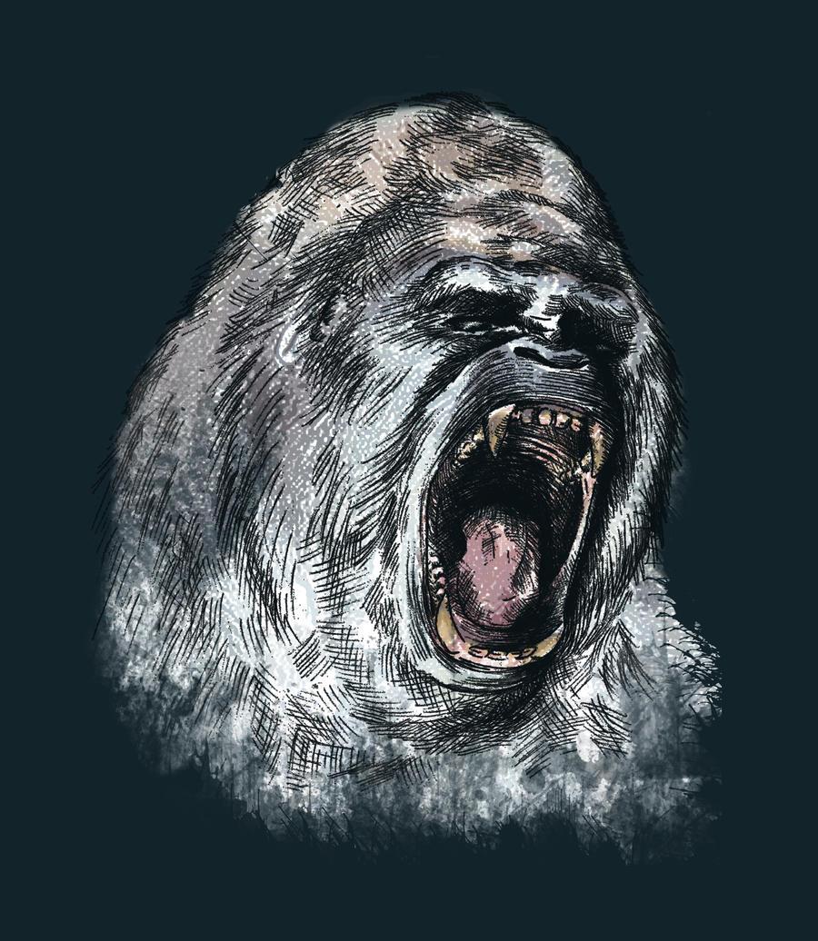 Angry Gorilla by brandonolterman on DeviantArt