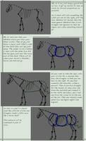 How I draw horses tut pt. 1