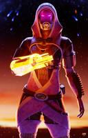 Tali'Zorah (Mass Effect Fanart) by K4VE