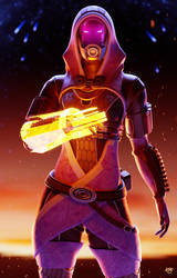 Tali'Zorah (Mass Effect Fanart) by K4VE