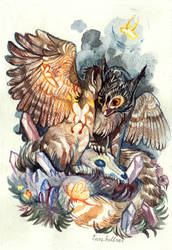 Gryphon with Butterflies / Commission by Ourshellves