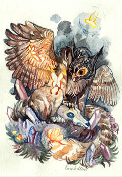 Gryphon with Butterflies / Commission