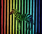 rainbow zebra. by steeerne