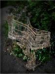 old shopping cart.