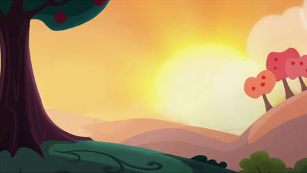 [MLP Background] Sweet Apple Acres Sunset by Shootingstar-Shine