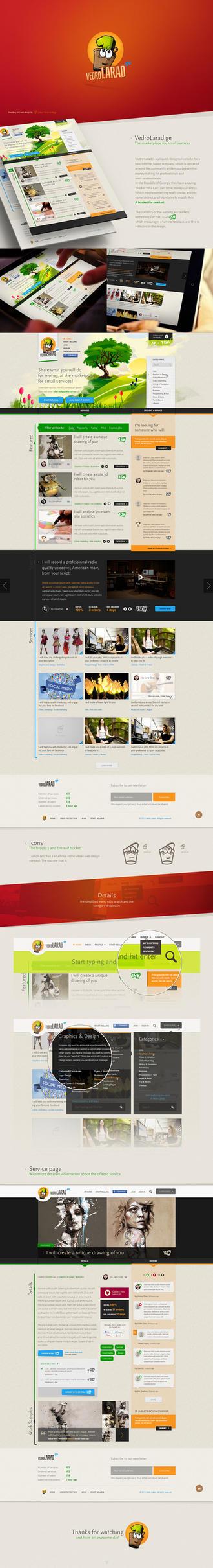 Branding and Web Design - Vedro Larad by Tngabor