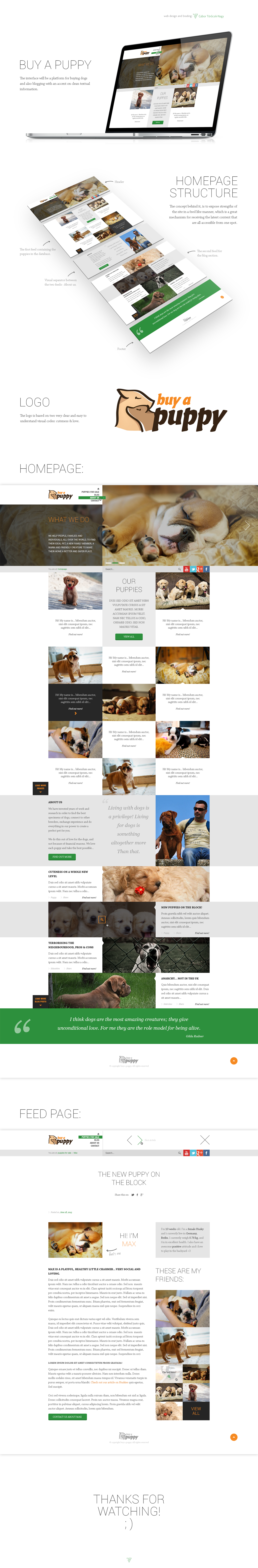 Web design - Buy a Puppy by Tngabor
