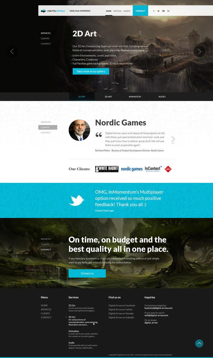 Web Design - Digital Arrow by Tngabor