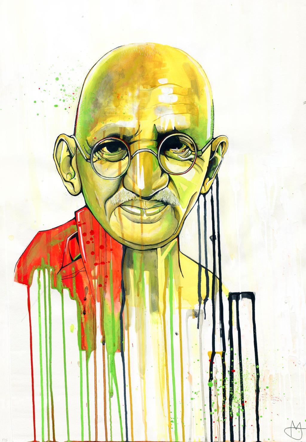Gandhi by MiaTheHawk