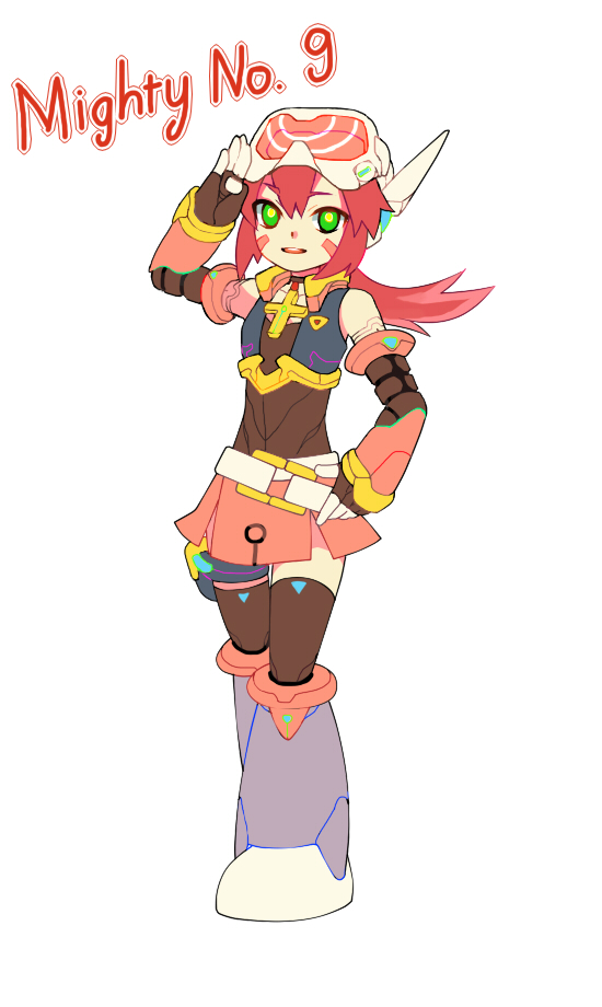 Lady ( Mighty No.9 style) by UltraCat7724