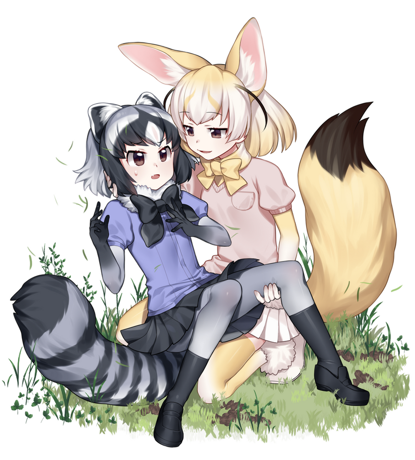 Fennec And Raccoon by UltraCat7724