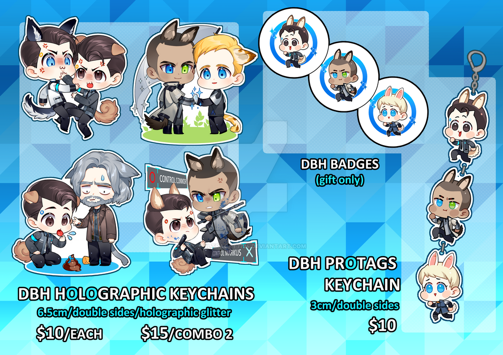 Detroit Become Human Charms by UltraCat7724