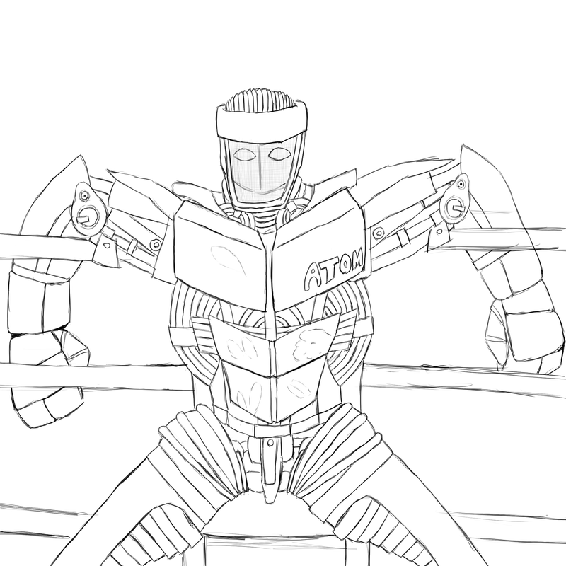 Real Steel Coloring Pages Card From User Bu2016mvd In Yandex