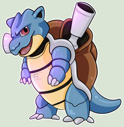 Pokemon sticker 10: Blastoise by Flowfell