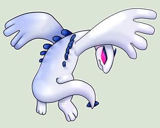 Pokemon sticker 17: Lugia {Holo Legendary sticker} by Flowfell