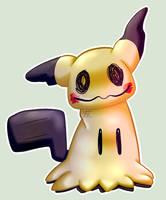 Pokemon sticker 18: Mimikyu by Flowfell
