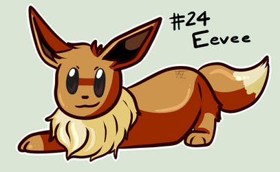 Pokemon sticker 24: Eevee by Flowfell