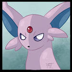 F2U Espeon Pokemon icon by Flowfell