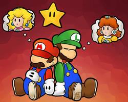 Mario And Luigi by Flowfell